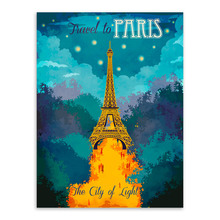 City Paris Eiffel Tower Modern Inspirational Travel Poster Prints Abstract Canvas Painting Bedroom Wall Art Decor Gift(China)