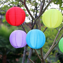 "10"" Solar Powered LED Light Chinese Nylon Fabric Lantern Lamp Lighting for Garden Outdoors Blue/Red/Yellow/Green"