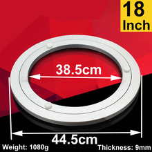 18 inch Aluminum Lazy Susan swivel plate round turntable bearings Furniture Hardware(China)