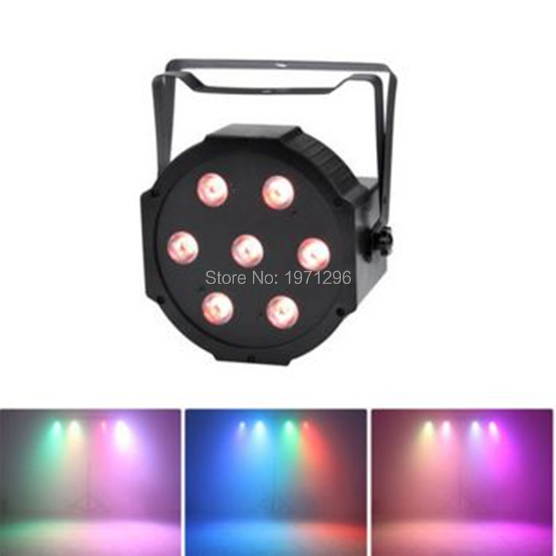 rgb 3in1 led flat par can light 7x9W DMX  dj stage lighting for party<br>