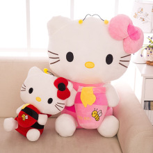 Hot Top Quality Big Hello Kitty Plush Toys Sitting Height 30cm/40cm Soft Stuffed Doll for Children Kids Christmas Birthday Gift(China)