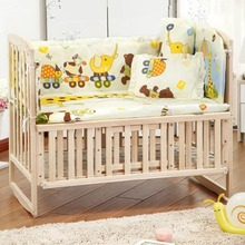 OUTAD Ins crib bed 5PCS/set Cotton Crib Bedding Set For 100*58cm/110*60cm Comfortable Crib Bumper Baby Bedding Set(China)