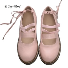 2016 Japanese soft sister Oxford bottom bind doll shoes princess women's singles round head students summer B7654