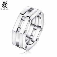 ORSA JEWELS Big Size High Quality 316L Stainless Steel Ring for Men 2017 New Fashion Male Finger Rings Jewelry Gift GTR28