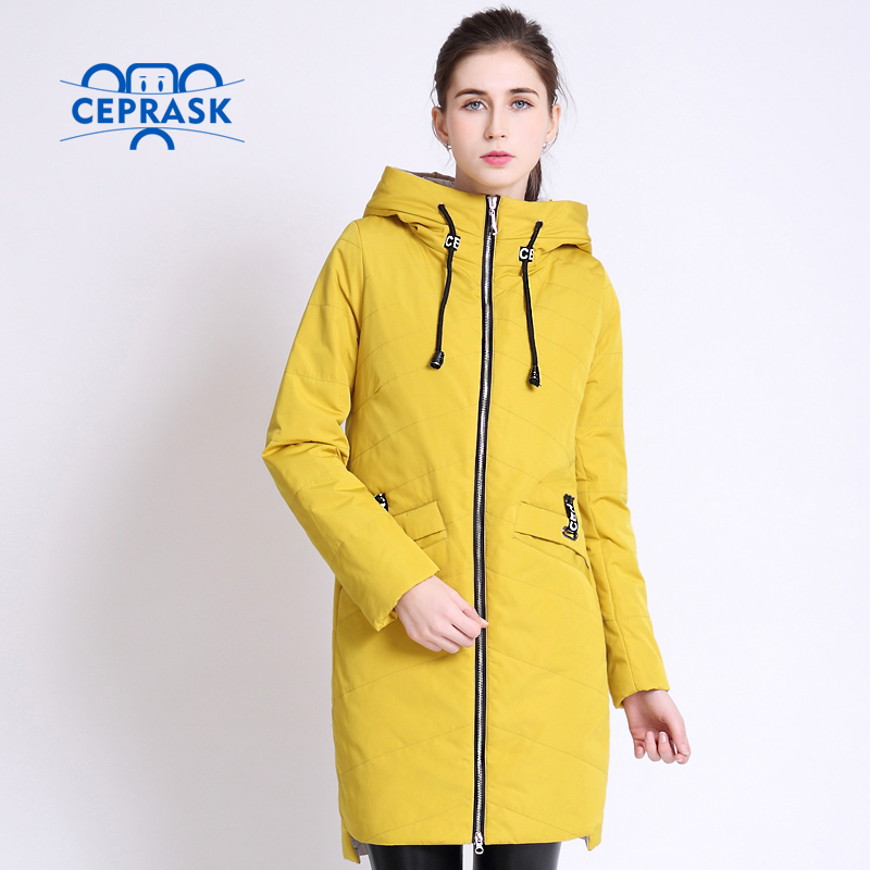 2017 High Quality Women's Coat Spring Autum Female Windproof Thin Parka Long Plus Size Hooded New Designs Women Jackets CEPRASK(China (Mainland))