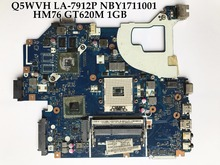 High quality for ACER Aspire V3-571G E1-571G Laptop Motherboard Q5WVH LA-7912P NBY1711001 HM76 PGA989 DDR3 GT620M 1GB Tested