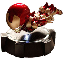 Gold Magnetic Floating Marvel Superhero Iron Man MK4 Action Figure Ac Toys with Mini LED Flash Light Doll Collection Toy(China)