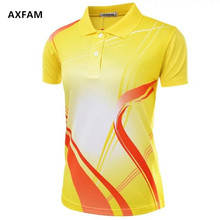 AXFAM Quick Dry Breathable Turn-down collar Women's Tennis Shirts Perfect quality sports Badminton Table Tennis clothing NM051
