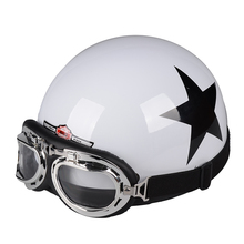 2017 New Vintage Motorcycle Motorbike Vespa Open Face Half Motor Scooter Helmets & Visor & Goggles(China)