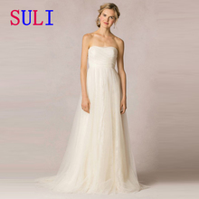 SG192 Simple Wedding Dress Pleated Lace Bridal Gown 2016 Top Sale In Italy Custom Made