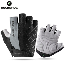 ROCKBROS Cycling Bike Half Finger Gloves Shockproof Breathable MTB Mountain Bicycle Gloves Men Women Sports Cycling Clothings(China)