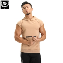 BF Brand Hooded Tank Top Men New Bodybuilding Stylish Sleeveless Hooded Vest Multi-Color Casual Slim Fit Men Clothing(China)
