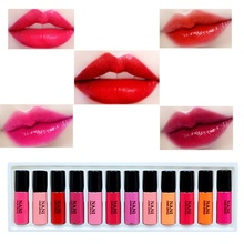 New 5ml Sample Size Liquid Moisturizing Lipstick Lip Balm Lip Make Up Lip Gloss Red Lipstick Nude Lipstick with brush Makeup