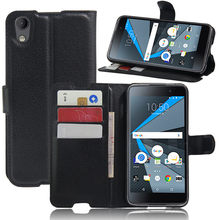 Wallet Case Card Slot Luxury Lichee Pattern For Alcatel Idol 4 Case BlackBerry DTEK50 Case Flip Phone Cover PU Leather(China)