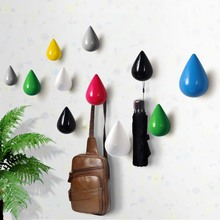 Creative Wall Hanging Wooden Square Decorative Hooks Wall Decorative Solid Water Drops