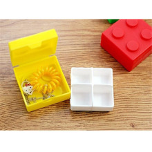 Portable Bricks Medicine Storage Pill Box Jewelry Display Container Case Organizer Mini Beads Earring Square Holder Bin PC878083(China)