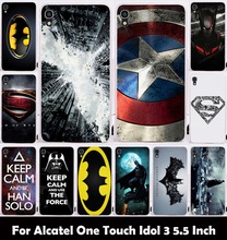 Hard Plastic Soft TPU Silicon Phone Case For alcatel One Touch Onetouch Idol 3 5.5inch OT-6045 OT6045 Cover Batman Housing Bag