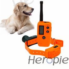 Heropie Pet Dog Trainer Waterproof and Rechargeable LCD Electronic Shock Remote Dog Training Collar Pet Dog Trainer(China)