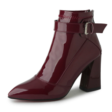 Sexy Pointed Toe ankle boots for women High heel boots Ladies Autumn Short boots