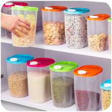 Kitchen compact environmentally sealed cans storage box, whole grains crisper food storage tank 1.25L(China)