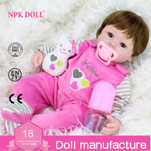 40cm Silicone Reborn Baby Doll kids Playmate Gift For Girls 16 Inch Baby Alive Soft Toys For Bebe Reborn Brinquedo