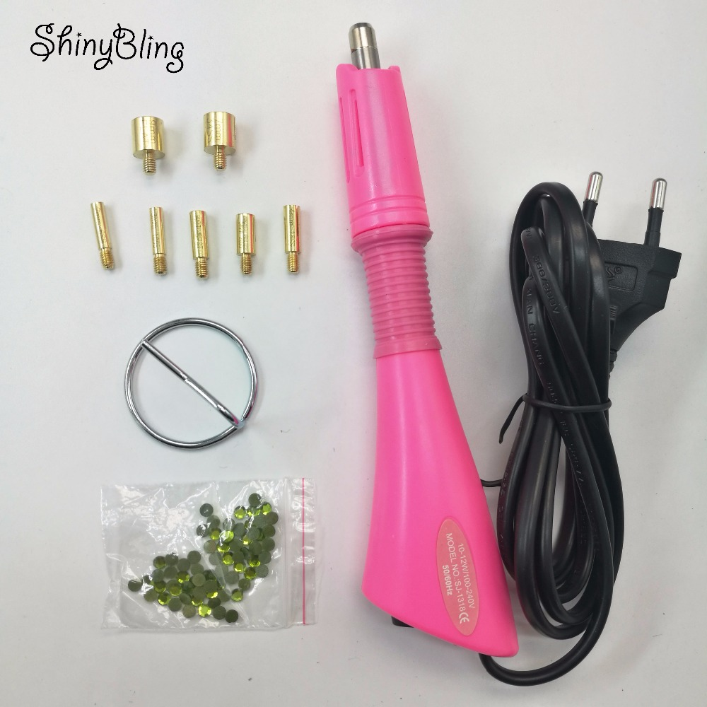 Iron-on Wand Applicator Heat Gun for Hotfix Rhinestone crystal Heat-fix Tool-EU