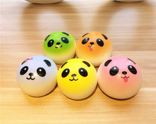 New Cute 7 cm colors panda squishy charm / mobile phone strap / Wholesale(China)