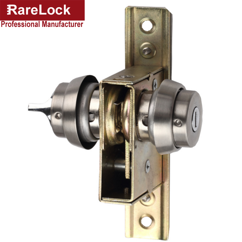 Rarelock Christmas Supplies Stainless Glass Door Lock One Side Keys One Side Knob Office Home Security Hardware DIY a<br>