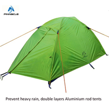 Professional 2 person double layer aluminum rod outdoor camping hiking tent  backpacking climbing tourism Waterproof tents F203