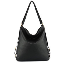 Artificial leather shoulder bag female big handbag women black color new arrival totes bags woman hobos(China)