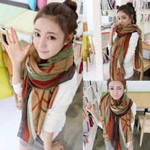 Stylish 2017 Winter Fall Soft Scarves Women Girls 170*80cm Leisure Striped Scarf pashmina Voile Wrap Shawl