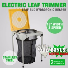 "18"" Table Hydroponic 3 Speed Electric Leaf Bud Trimmer Trim Reaper W/ 6 Extra Blades"