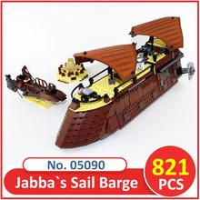 Building Blocks 05090 Compatible Legoes Space Wars The Jabba`s Sail Barge 6210 Figure Educational Toys For Children(China)