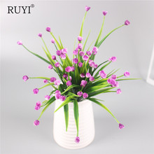 Artificial Mini rose silk flower simulation flowers bouquet fake grass Aquatic plants for new home room decoration washable(China)