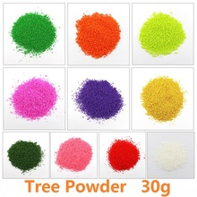 30g Artificial Tree Powder Sand Table Model Decor Micro Landscape Decoration Home Garden DIY Accessories Building Model Material