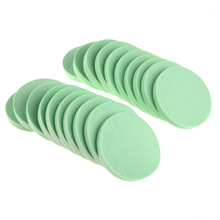 20pcs/pack Makeup Sponge Puff Women Beauty Foundation Cosmetic Flawless Facial Sponges Soft Powder Puff Green Pink