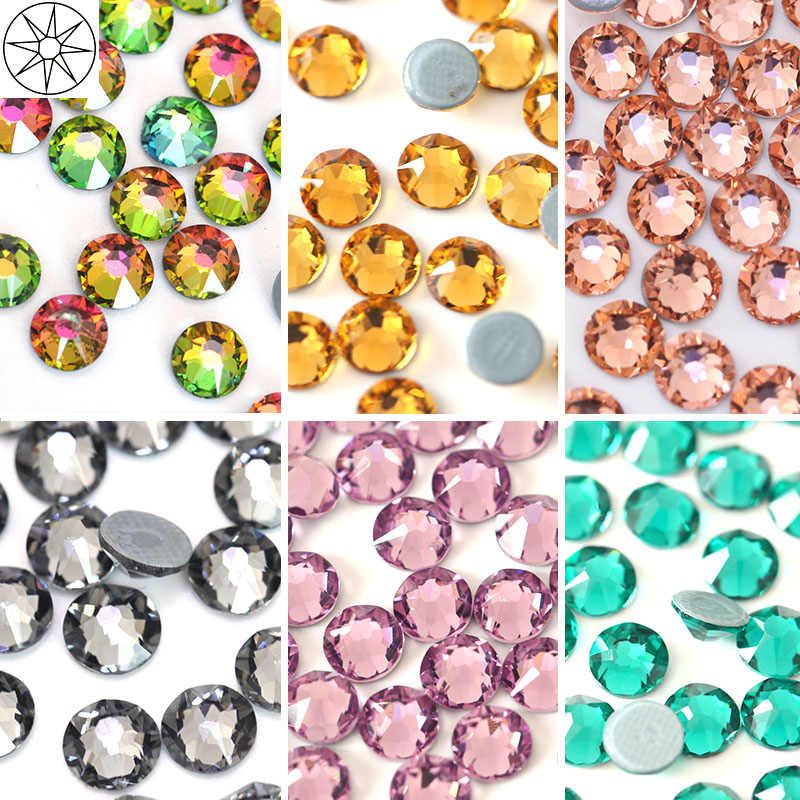 All Colors SS20 144pcs Hot Fix Rhinestone 2088 Cuts Facets 8 Big 8 Small  Iron On 235c839bcaff