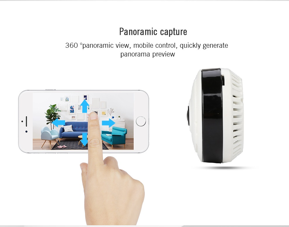 YA-YN8 Wi-fi Mini IP Camera 360 Degree Home Security Wireless P2P Wifi IP CCTV Camera 1.3MP 960PH Video Surveillance Cameras<br>