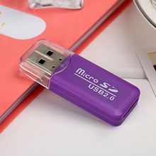 1 PCS Colorful External cardreader Mini USB 2.0 Card reader for Micro SD Card TF Card for PC MP3 MP4 Player usb hub adapter 1$