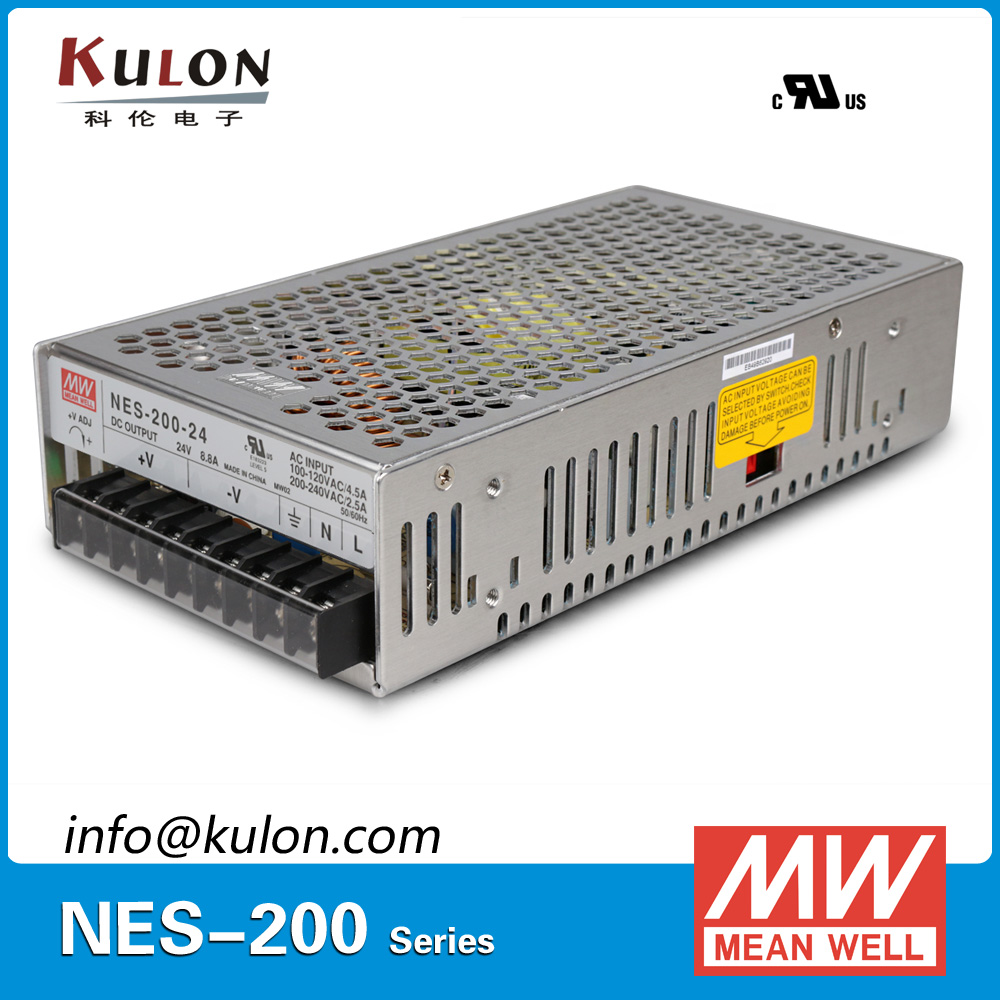 Original Meanwell NES-200-48 AC to DC single output 200W 4.4A 48V Mean well Power Supply NES-200<br>
