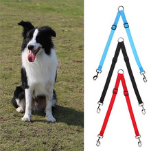 Pet Traction Rope Dog Lead Leash Two Dogs Adjustable Lead Dog Leash Lead Coupler Two Dogs Leash Splitter