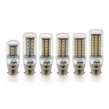 1pcs B22 7W 12W 15W 18W 20W 25W Led Corn bulb light SMD 5730 AC 220V Bombillas B22 led candle spotlight chandelier 360 Degree(China)