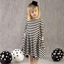 Hot , stripe Cotton Princess Dresses for Girls . Summer Smock for 2-6 baby Girl Dress Children clothes toddler kids clothing