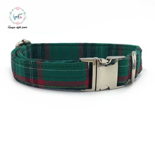 Fshion dark green  dog collar   matel buckle   dog &cat necklace match leash available seperately pet supply