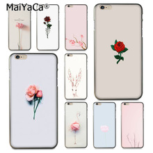 MaiYaCa Cute and trendy plant flowers Phone Accessories Case for Apple iPhone 8 7 6 6S Plus X 5 5S SE 5C 4 4S Cover(China)