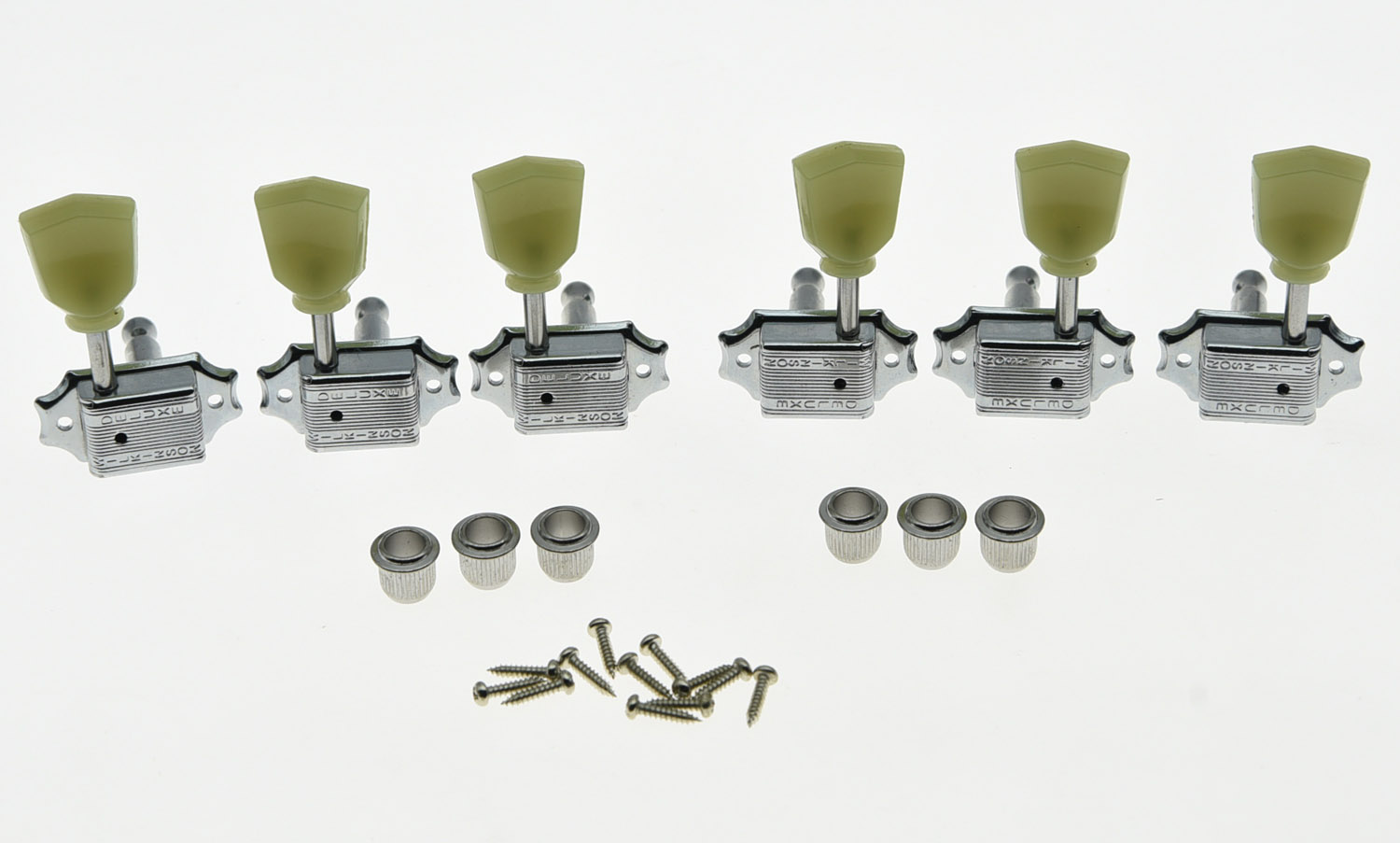 Wilkinson 3x3 Deluxe Vintage Tuners Tuning Keys Machine Head for LP Chrome<br>
