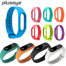 Buy Pluseye Colorful Silicone WristBand Bracelet Wrist Strap Replacement Miband 2 Xiaomi Mi band 2 Smart Band for $1.39 in AliExpress store