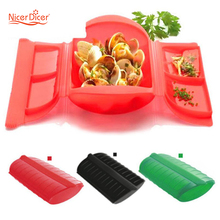 Portable Steam Healthy Cooking Bowl Microwave Oven Steamer Moisturizing Lunch Box Steamer Food Grade PP Home Kitchen Tools(China)