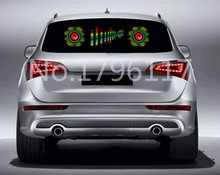 New 1Pcs Rhythm Music Activated EL Equalizer Car decration Sticker Glow Flash Panel Multi Designs LED car music light 90x25cm