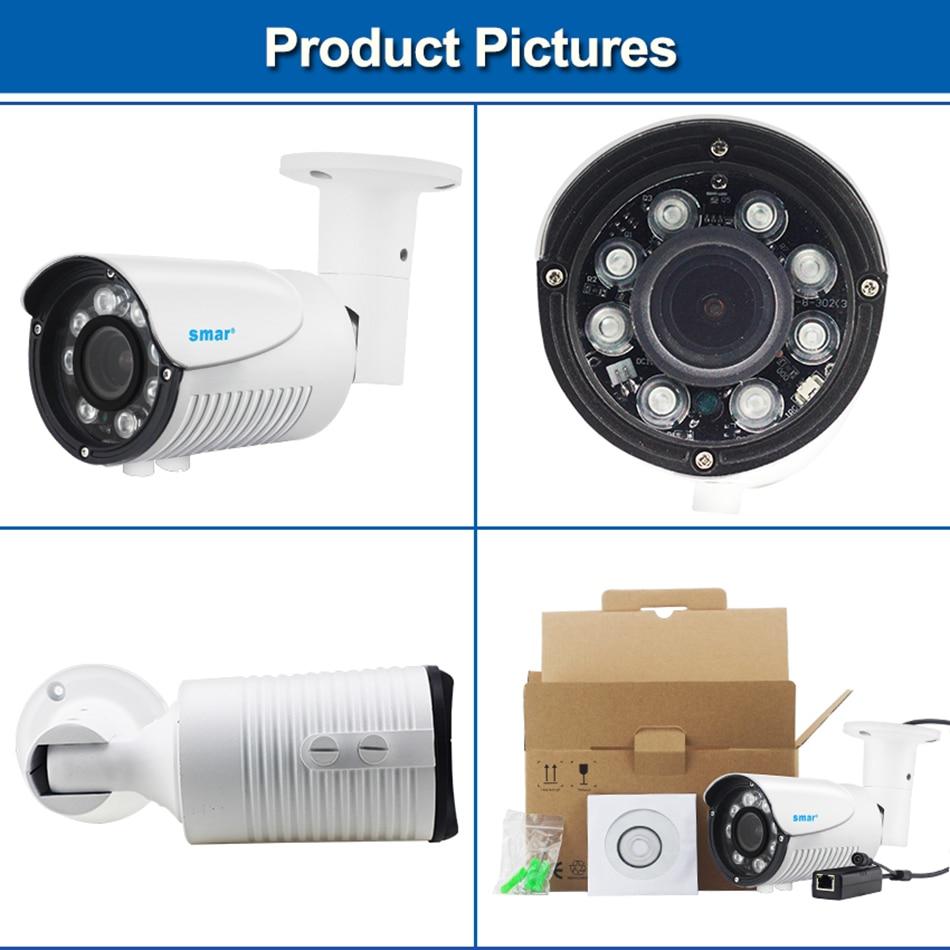 48V POE IP Camera HD 720P 960P 1080P Outdoor Waterproof Built-in 4X Zoom 2.8-12mm Manual Varifocal Lens Network Bullet Camer (2)